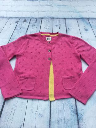 Mini Boden hot pink cardigan age 6-7